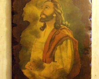 Jesus Picture Wooden Wall Decor - Christian Art - Religious Art - Epsteam