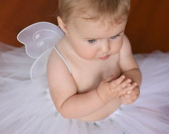 White Angel Costume for Infant - Baby Fairy Costume - White Fairy Wings - Cute Baby Girl Costume - Baby Girl Outfit - Costumes for Baby Girl