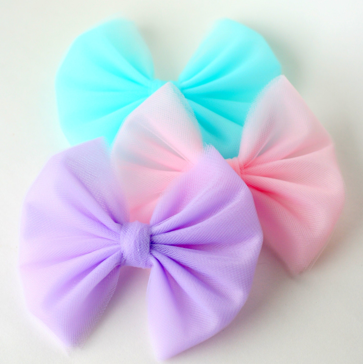 Big Hair Bows Baby Hair Bows Big Tulle Hair Bow Pink