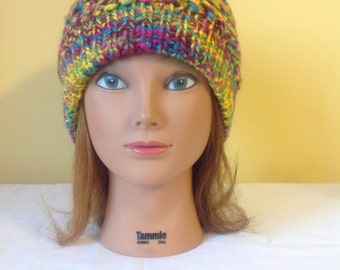 Hand Knitted Womans Slouchy Hat