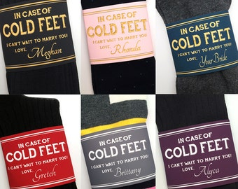 Choose Your Own Color- Wedding Gift from Bride // Cold Feet Socks and Label For Groom from the Bride Wedding Gift // Engagement Gift for Him