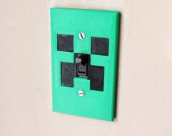 Minecraft Creeper Light Switch. Perfect Minecraft decor for any room!