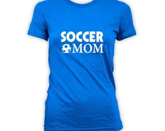 Soccer Mom T-shirt - Personalised Soccer Shirt. Soccer Mom shirt. Stylised Soccer shirt, Soccer Pride Shirt, Mothers day shirt CT-256
