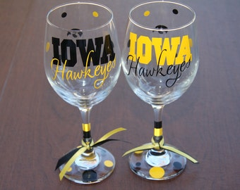 Iowa Hawkeyes..Bar Glass Sports, Football, Go HAWKS, Hawks Gifts, IOWA