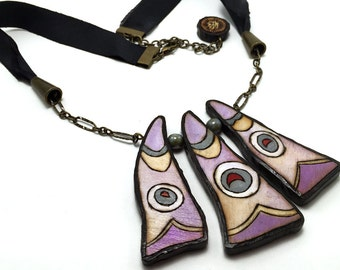 Butterfly Wing Necklace - Handmade & Eco-friendly