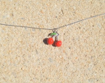 Lilly Necklace - Cherry necklace