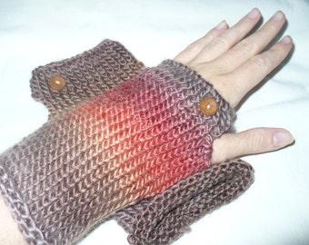Mohair hand-knitted wrist-warmer