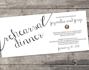 Dinner Rehearsal Invitation