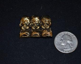 Vintage Golden Angels Praying Lapel Pin