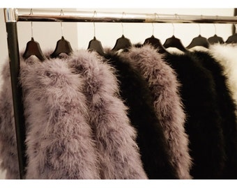 Fluffy Feather Jacket Winter Autumn Outerwear Jacket Coat Womens Fashion Gift Present Celebrity Style Clothing