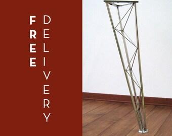 Table legs stainless steel truss, gambe da tavolino traliccio acciaio inox, h:75 cm (29,5 inch), struttura, made in italy