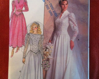 1980s Butterick 4646 Pattern Bridemaid or Brides' gown 1980s