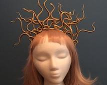 Medusa Costume, Snake Headband, Halloween Costume, Halloween Headpiece, Gold Headband, Cosplay, Festival Headpiece, Burning Man, EDC