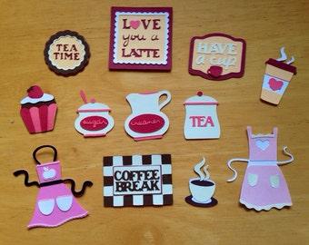 Love you a latte cricut embellisments
