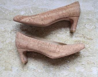 Stuart Weitzman cork pumps, size 5