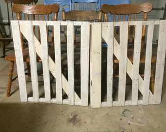 Wooden stair gate