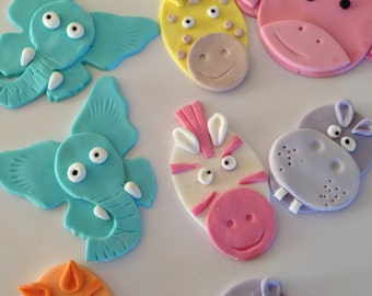 Baby Zoo Animal - Pastels