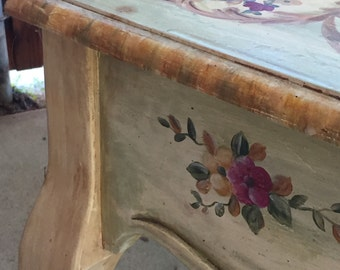 Accent Table by Habersham - hand painted w/signature