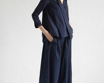 Blue tops pullovers BonLife