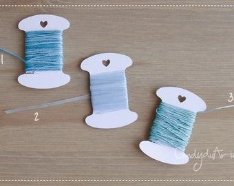 Mini Pack of 5 mt twine, Ribbon blue-packaging-gift tags-tag-tags