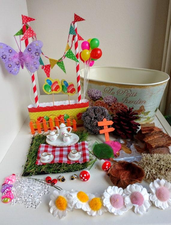 sale fairy garden kit fairy garden party diy miniature