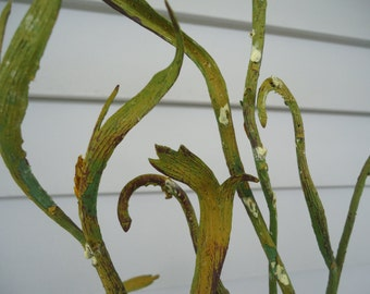 """49"""" Heavy  Branch Ribbon Willow Spray Silk Foliage Cottage Greenery Tall Branch 49"""" Thick Curly Branch #270A*"""