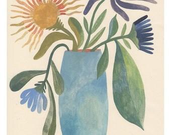 Blue Vase Print