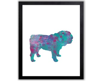 British Bulldog Painting, Bulldog Decor, Limited Edition Art Print