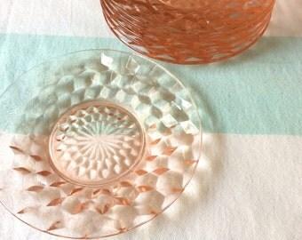 Jeannette Glass Pink Salad Plate