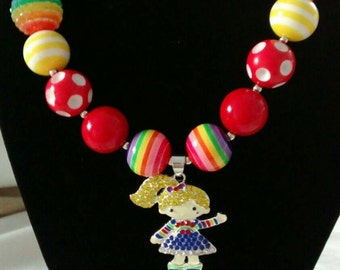 Rainbow Bright CHUNKY necklace character