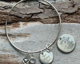 Boots and Bling Its a Cowgirl Thing Wire Adjustable Bangle Bracelet