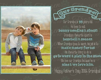 Our Daddy/Grandpa/Papa Questionnaire Digital Print