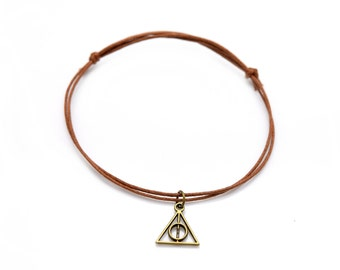 Bracelet Deathly of Hallows bronze