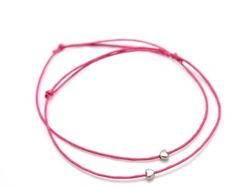 Friendship Bracelet silver heart