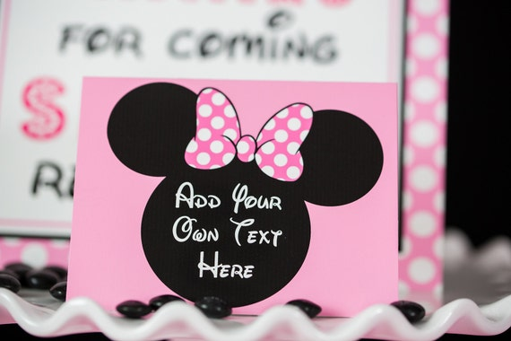 Minnie Mouse Food Labels Instant Download Minnie Mouse Party