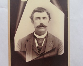 Vintage Cabinet Card Photo of a Young Man