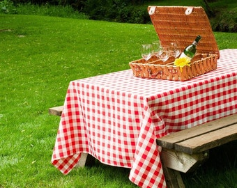 90 X 132 Rectangular Red And White Checkered Gingham Tablecloth | Wedding  Tablecloth