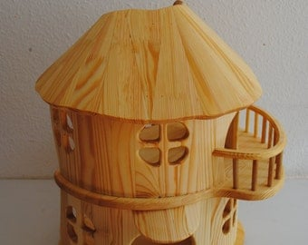 Dollhouse - Handmade wooden DollHouse - doll house - dollhouses - wood dollhouse