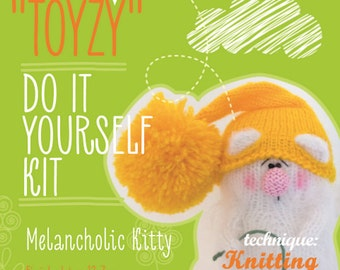 Tz-K001 Toyzy  Kit «Melancholic Kitty»- Technique Knitting
