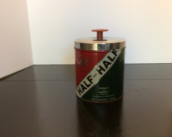 Vintage Half and Half Smoking Tobacco Tin, 14 oz.