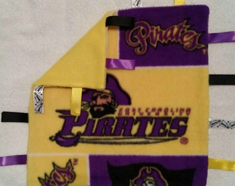 ECU Infant Security Blanket with Ribbons