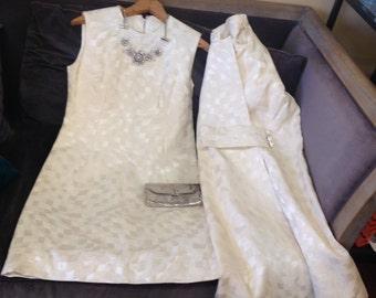 Vintage shift dress and coat