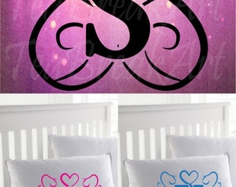 Royal Vine Alphabet Monogram SVG EPS JPG png Digital Cutting Files Graphic angel wing papercut printable cuttable heart swirl laced (150C)