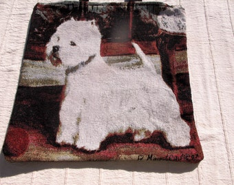 Embroidered Dog Lovers Carry Bag
