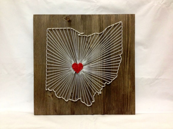 string art ohio state wall art ohio home decor by oneroots