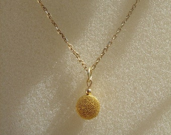 Necklace in gold 585 (14 K) with Bali ball, fine & noble!