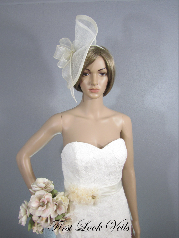 Ivory Wedding Fascinator, Bridal Hat, Bridal Headband ...