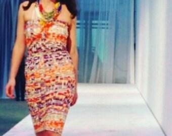 Thrift Exclusive! Digital Print Tube Dress HOT from Nottingham Fashion Week Runway
