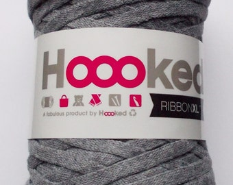 Hoooked RibbonXL, stone-grey, 120m per roll (0,08 Euro/m)