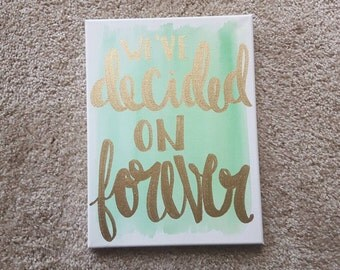 i love you always and forever canvas quote art valentine 39 s